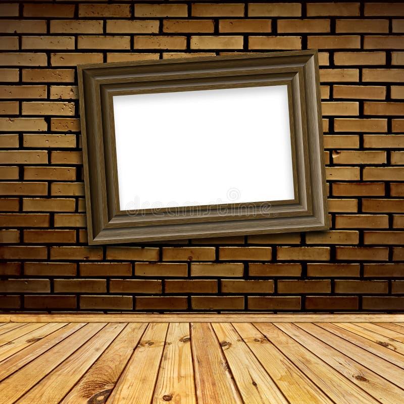 Het frame van de kunst in binnenland stock afbeelding