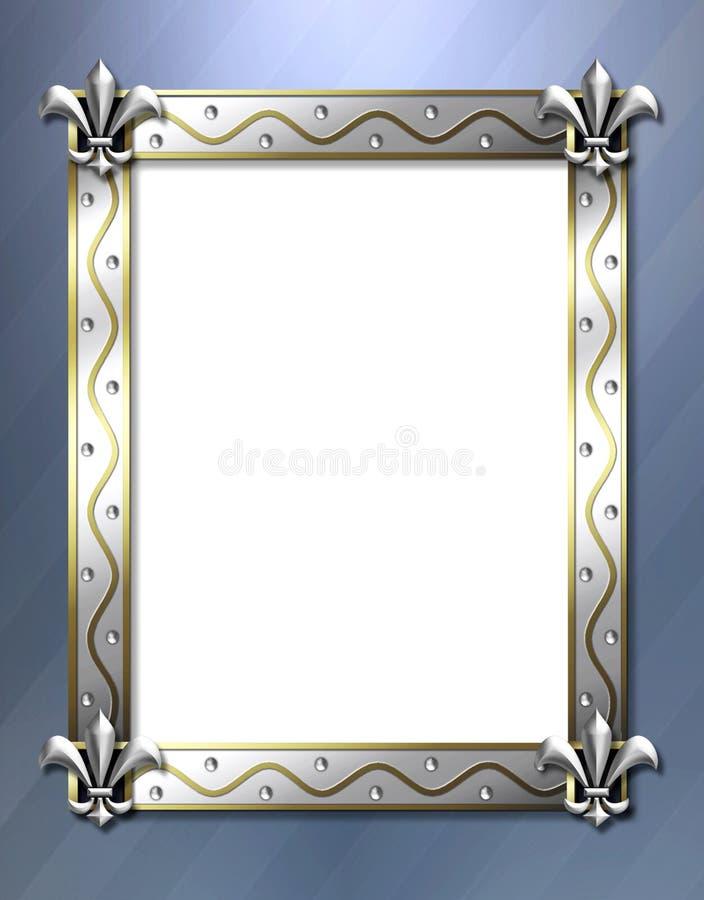 Het frame van DE lis van Fleur stock illustratie