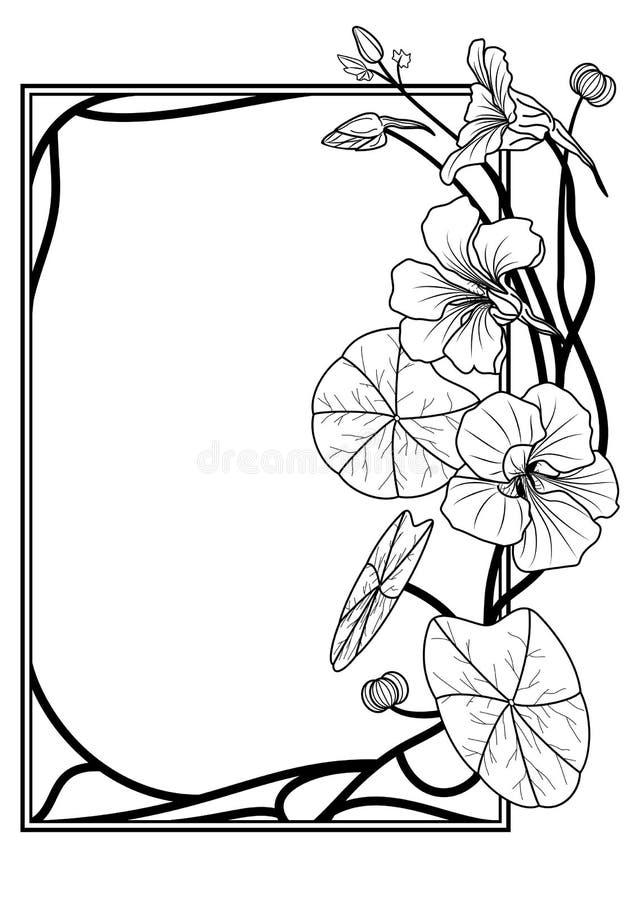 Het frame van de Oostindische kers vector illustratie