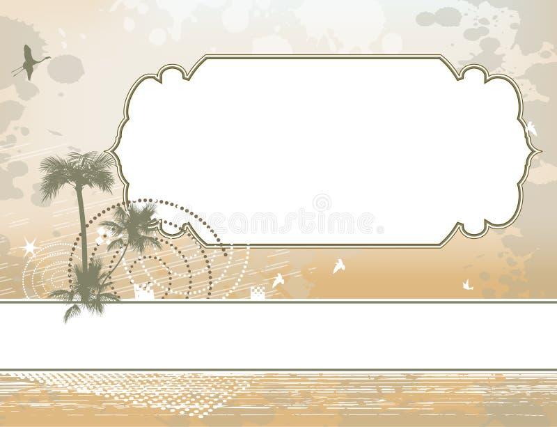 Download Het Frame Van De Palm En Shadoof Achtergrond Stock Illustratie - Illustratie bestaande uit antiquiteit, bloemen: 29505937