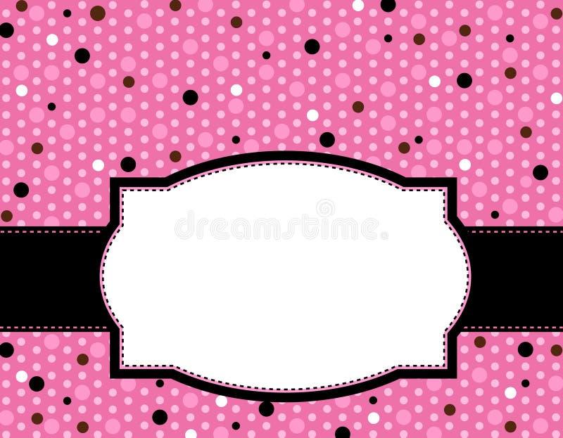 Het frame van de polka achtergrond vector illustratie