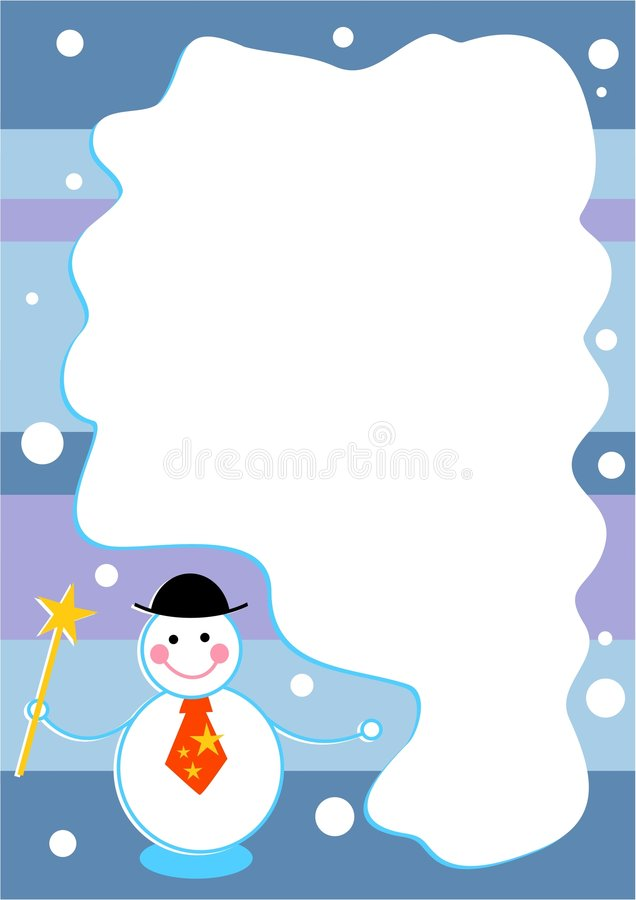 Het frame van de sneeuwman vector illustratie