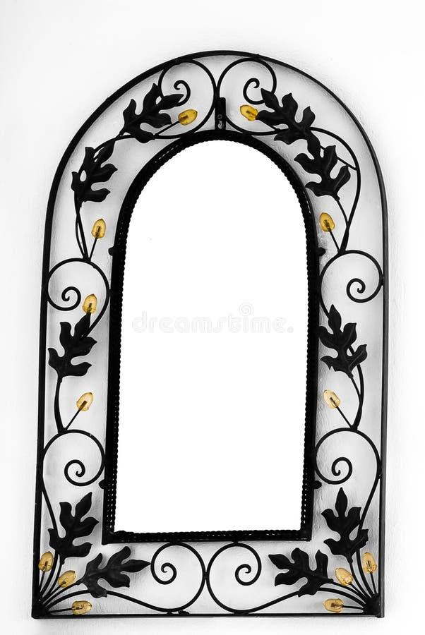 Het Frame van de spiegel op de muur royalty-vrije stock foto