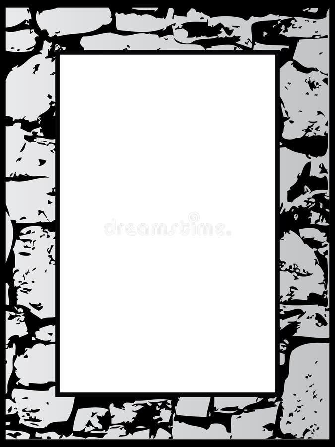 Het frame van de steen royalty-vrije illustratie