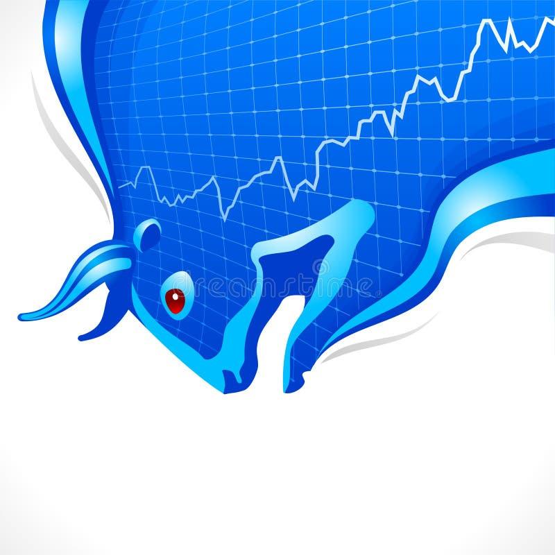 Het frame van de stier. Bedrijfs en financiënsymbool stock illustratie