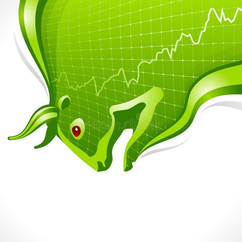 Het frame van de stier. Bedrijfs en financiënsymbool vector illustratie
