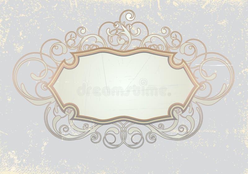 Het frame van de titelopdruk stock illustratie