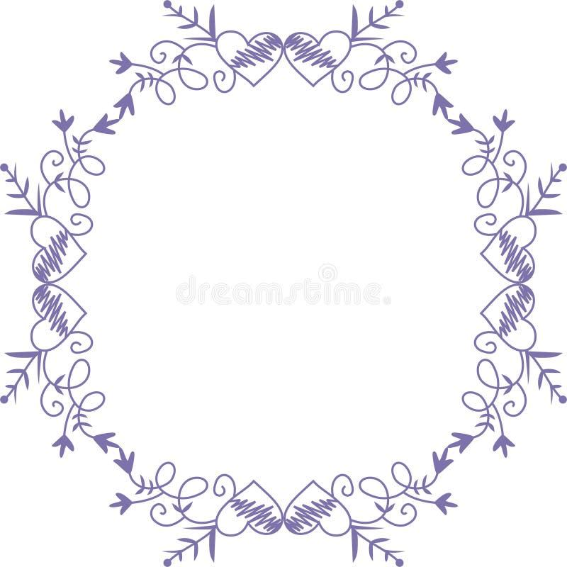 Het frame van de valentijnskaart stock illustratie