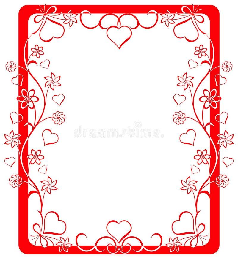 Het frame van de valentijnskaart, vector stock illustratie