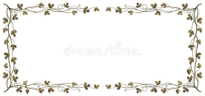 Het frame van de wijnstok stock illustratie