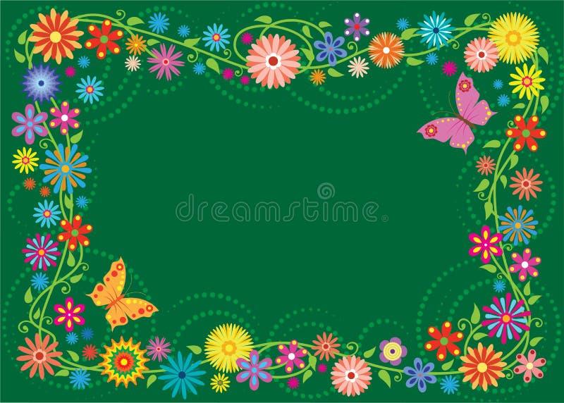 Het frame van de zomer royalty-vrije illustratie