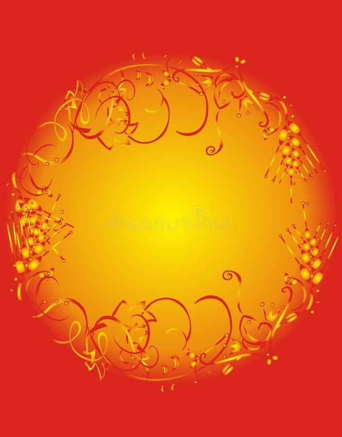 Het frame van de zon stock illustratie