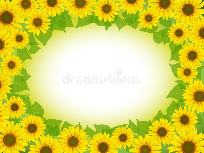 Het frame van de zonnebloem vector illustratie