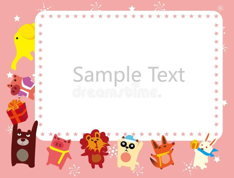 Het frame van dieren royalty-vrije illustratie