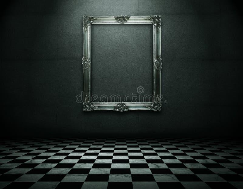 Het frame van Emty bij de muur met het knippen van weg vector illustratie
