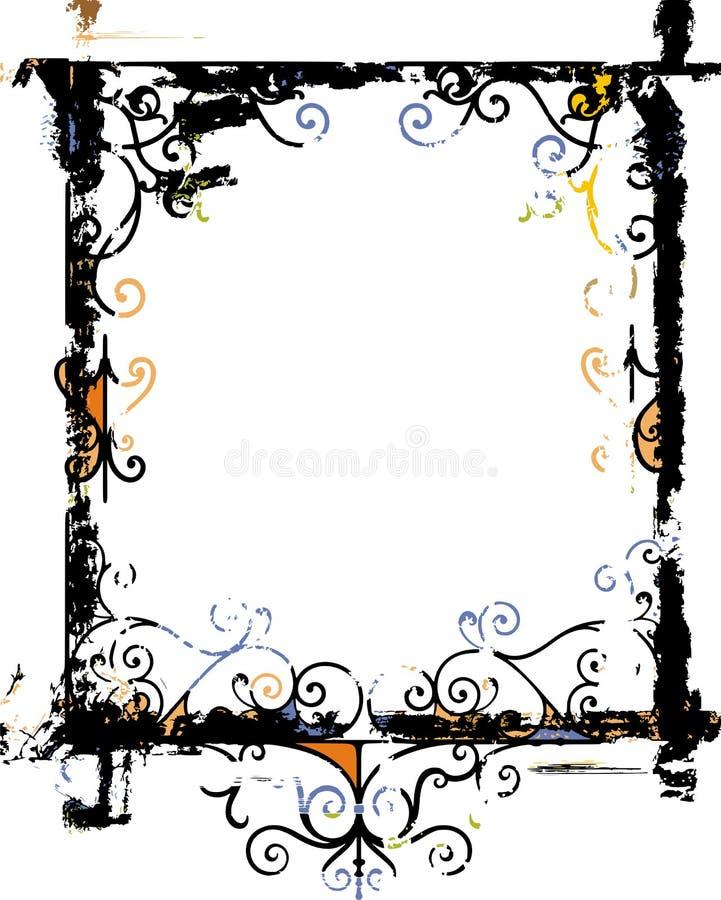 Het frame van Grunge en grensreeks vector illustratie