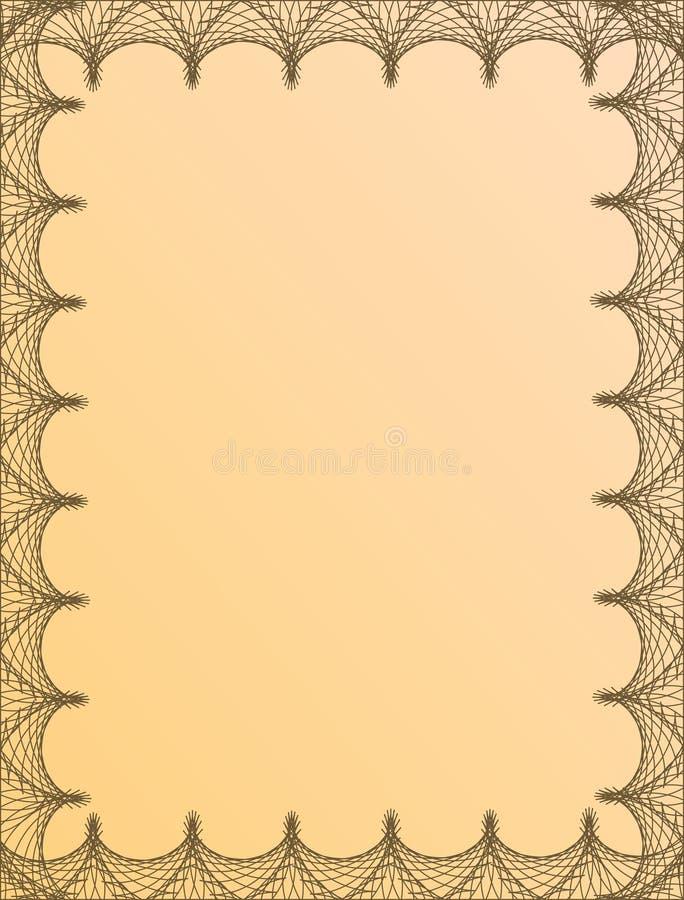Het frame van Guilloché vector illustratie