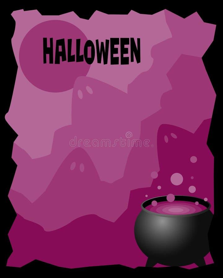Het frame van Halloween stock illustratie