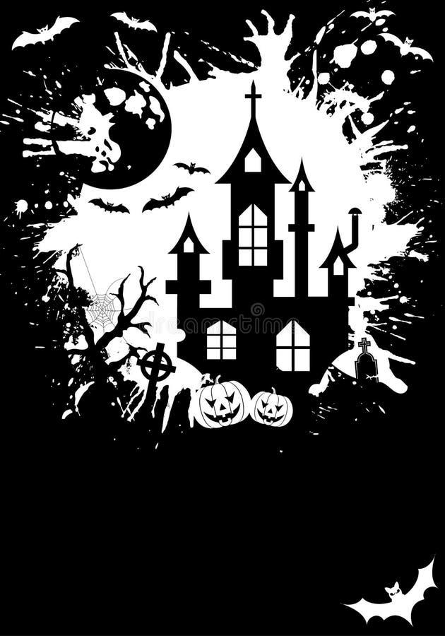 Het frame van Halloween van Grunge royalty-vrije illustratie