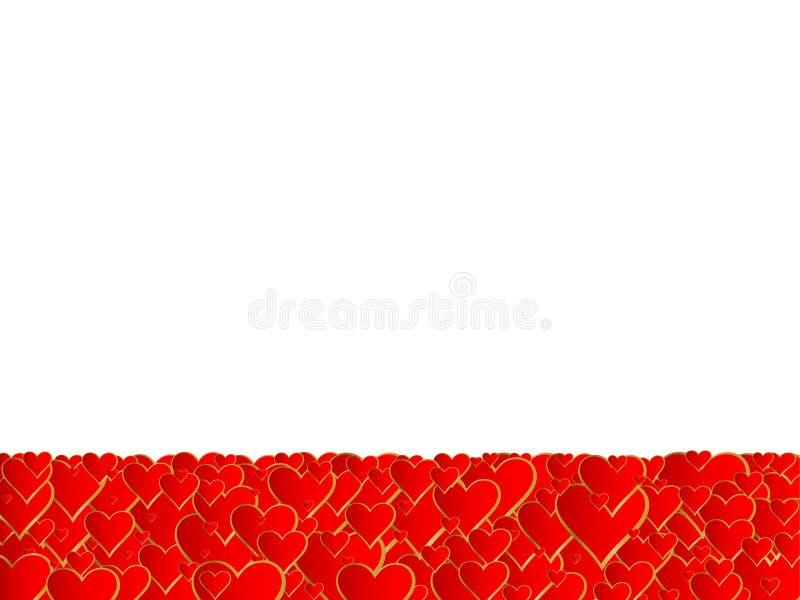 Het frame van harten stock illustratie