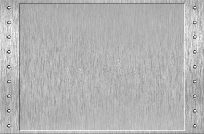 Het frame van het aluminium of van het metaal met klinknagels royalty-vrije stock fotografie