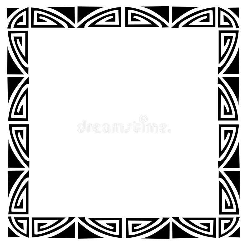Het frame van het art deco stock illustratie