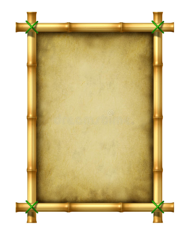 Het Frame van het bamboe royalty-vrije illustratie