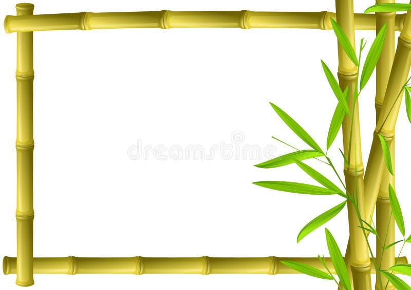 Het frame van het bamboe stock illustratie