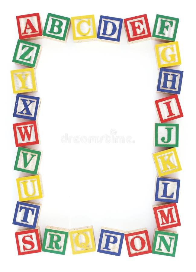 Het Frame van het Blok van het Alfabet ABC royalty-vrije illustratie