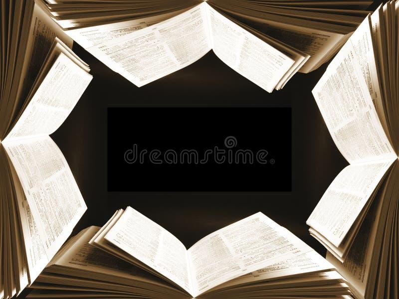 Het frame van het boek stock foto