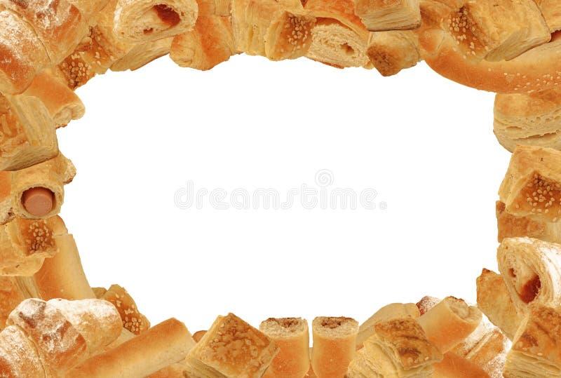 Het frame van het brood en van het gebakje stock foto