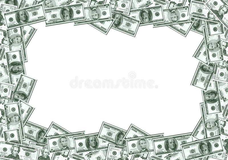Het Frame van het contante geld royalty-vrije illustratie
