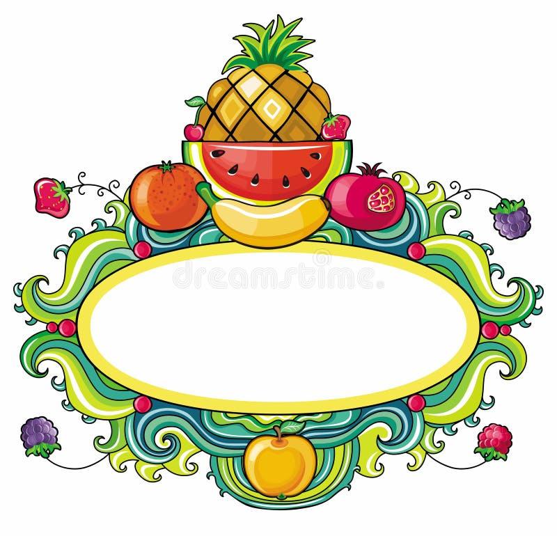 Het frame van het fruit stock illustratie