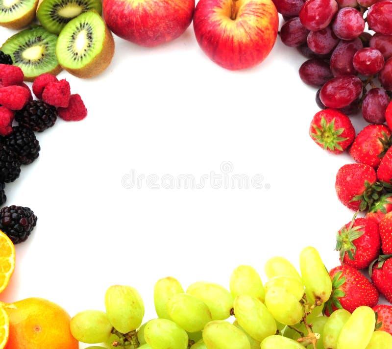 Het frame van het fruit stock foto