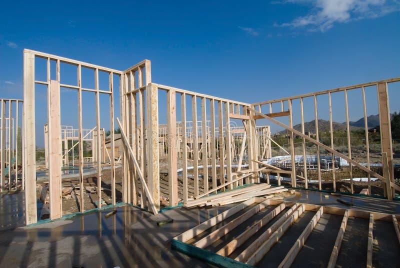 Het frame van het huis bouw stock foto's