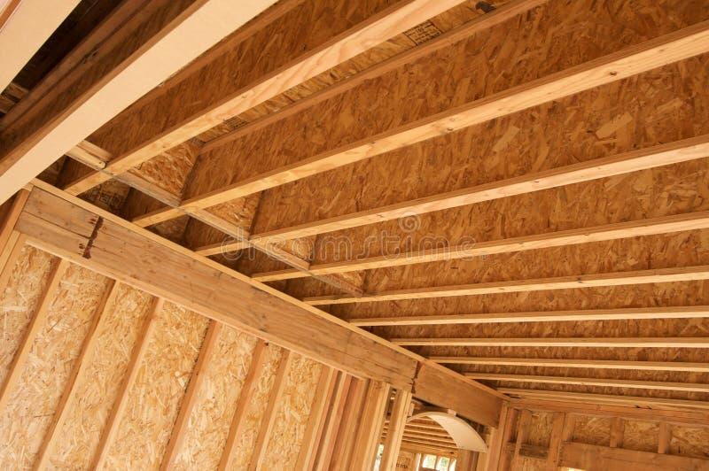 Het Frame van het Huis van de bouw. stock afbeelding