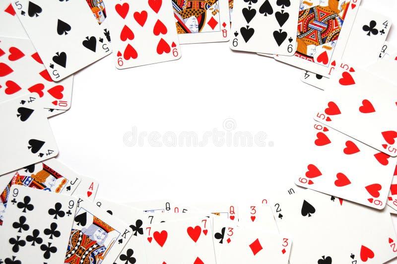 Het frame van het kaartspel royalty-vrije stock afbeeldingen