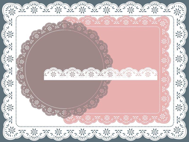 Het frame van het kant stock illustratie