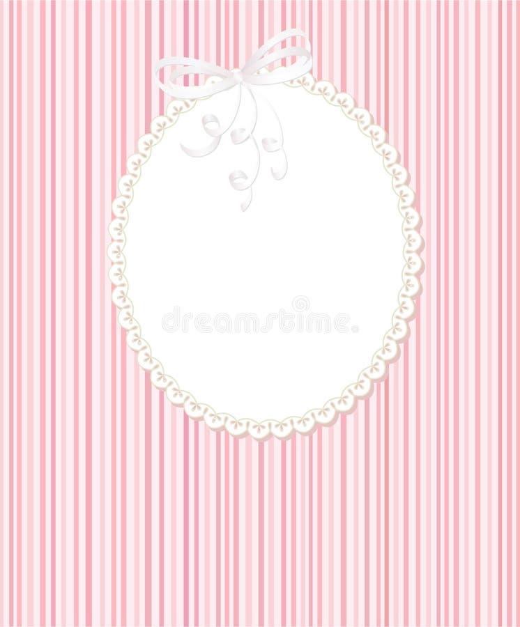 Het frame van het malplaatje ontwerp voor groetkaart royalty-vrije illustratie