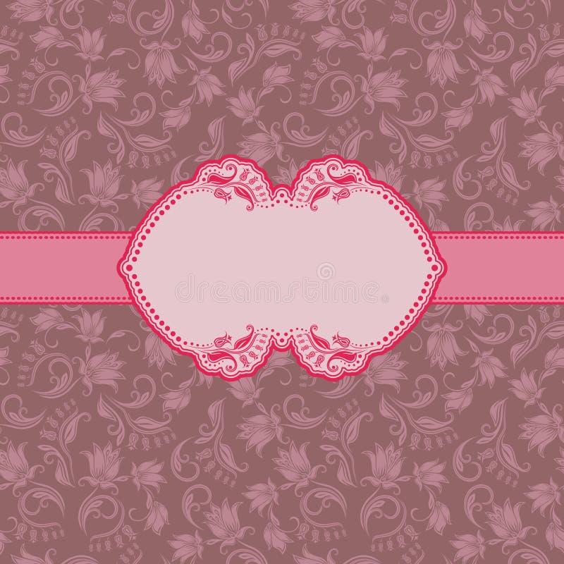 Het frame van het malplaatje ontwerp voor groetkaart. stock illustratie