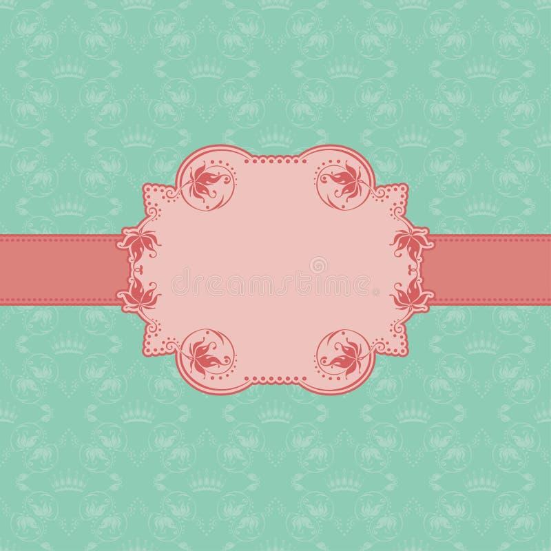 Het frame van het malplaatje ontwerp voor groetkaart. vector illustratie