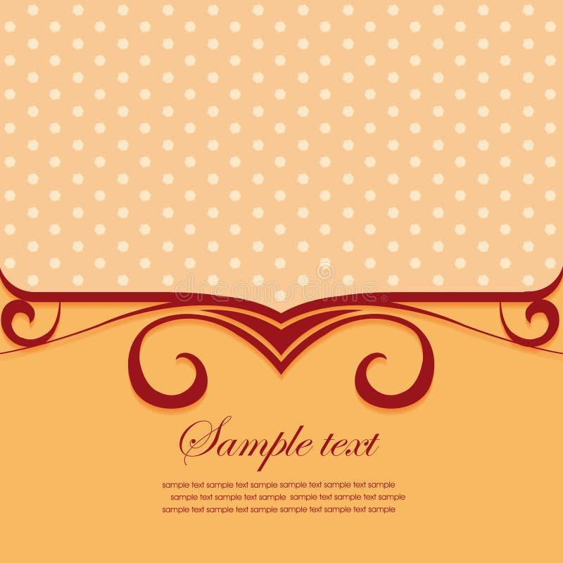 Het frame van het malplaatje ontwerp voor groetkaart vector illustratie