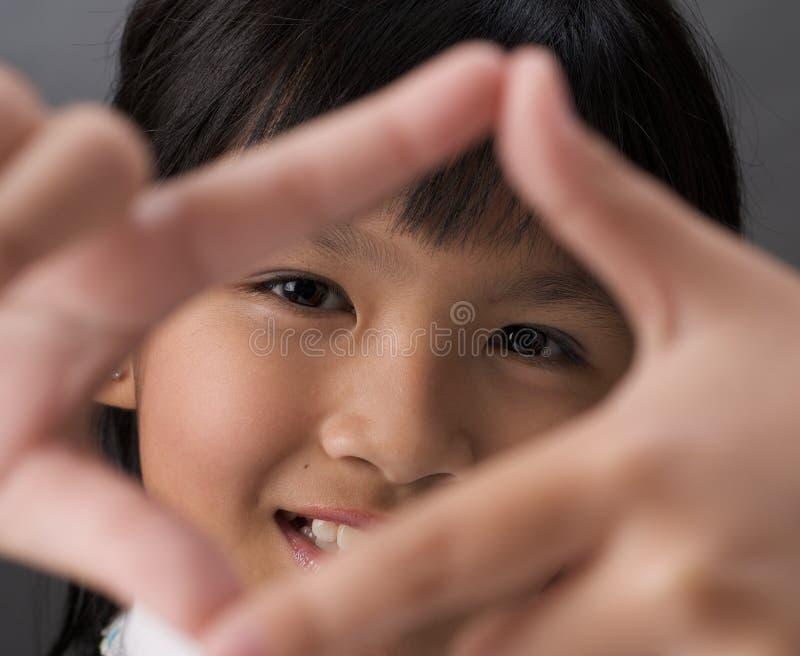 Download Het frame van het meisje stock afbeelding. Afbeelding bestaande uit smiling - 13842459
