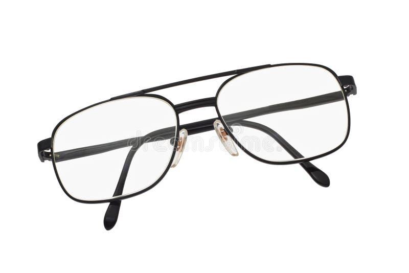 Het frame van het metaal bril stock fotografie