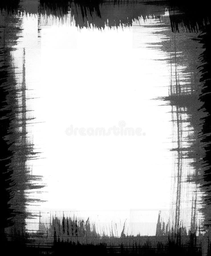 Het Frame van het Patroon van de borstel stock illustratie