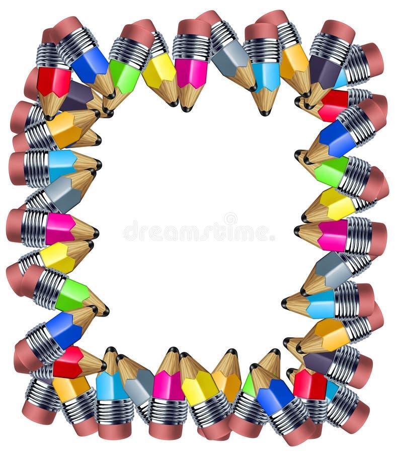 Het frame van het potlood stock illustratie