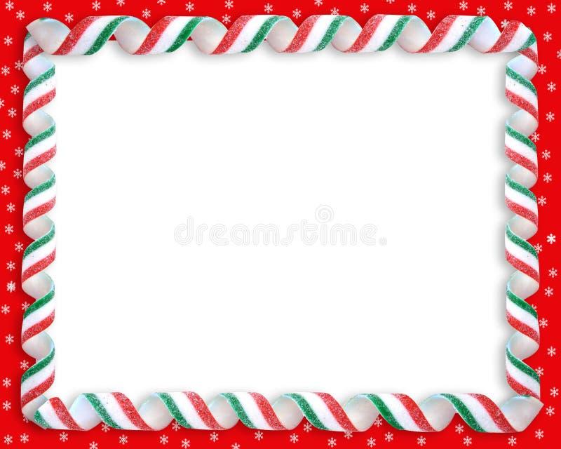 Het Frame van het Suikergoed van het Lint van Kerstmis royalty-vrije illustratie