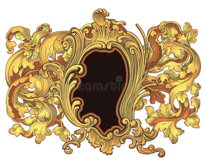 Het frame van het wapenschild vector illustratie