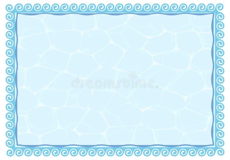 Het frame van het water vector illustratie