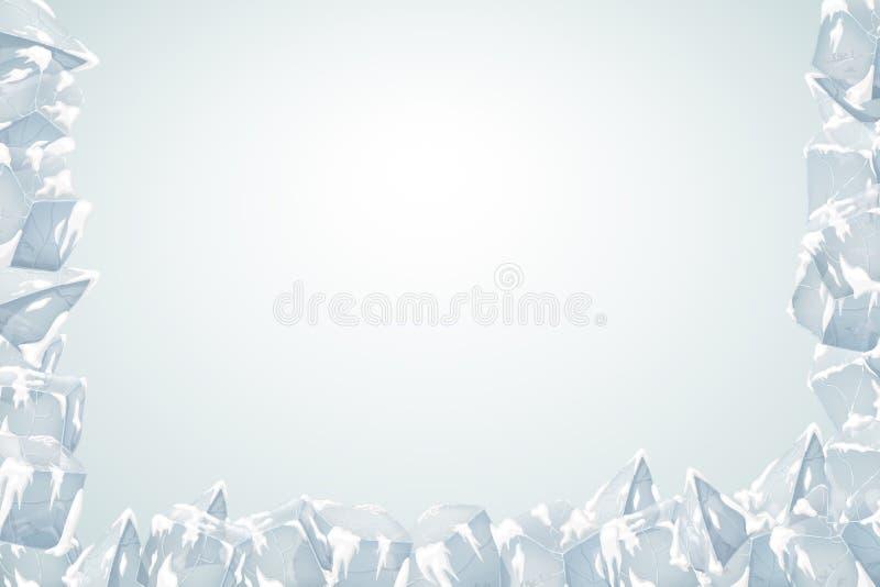 Het frame van het ijs stock illustratie